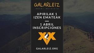 Se abren hoy las inscripciones para la Galarleiz 2015