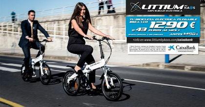 Tu bicicleta eléctrica plegable Littium por solo 1.290 € o 43 € al mes