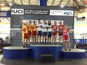 Un oro, dos platas y cuatro cuartos puestos en el mundial de ciclismo adaptado