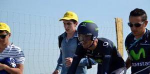 Valverde conserva el segundo puestro tras una buena crono