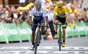 Valverde asalta el podio del Tour de Francia