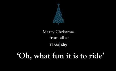Vídeo: El Team Sky te desea Feliz Navidad