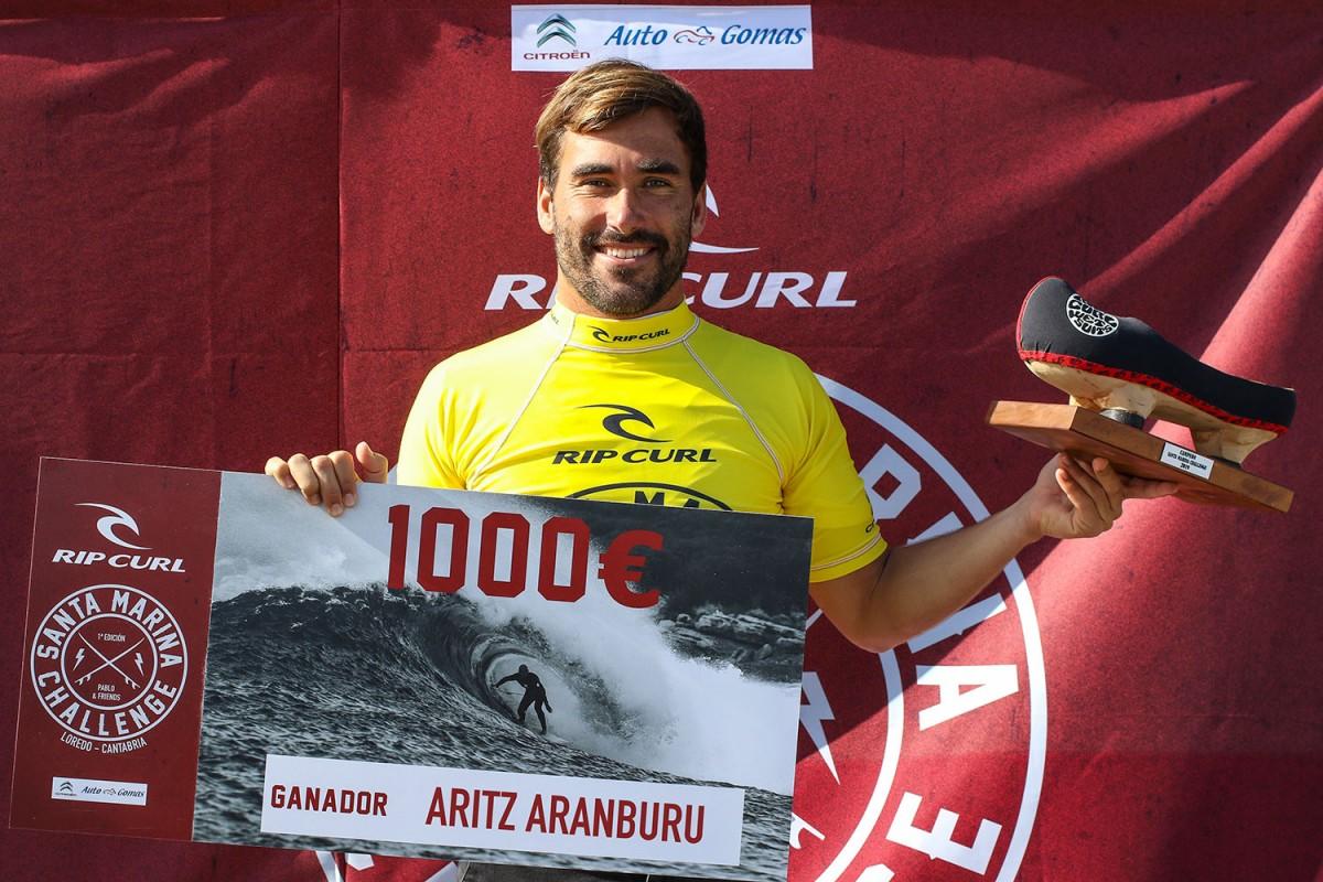 Aritz Aranburu vencedor del Rip Curl Santa Marina Challenge