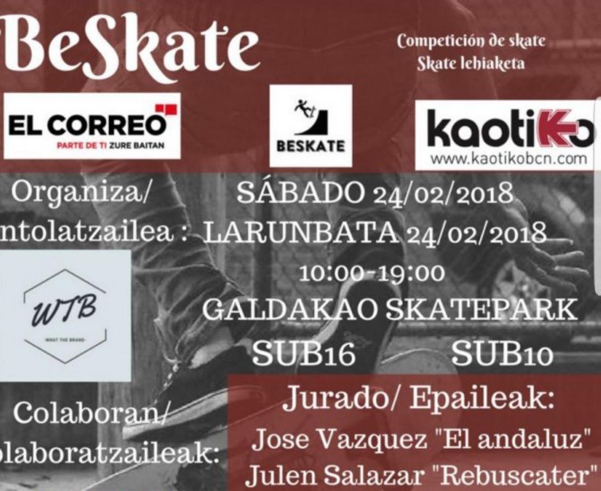BE SKATE campeonato de skate en Galdakao