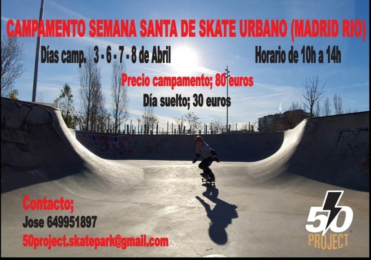 Campamento skate urbano Semana Santa en Madrid