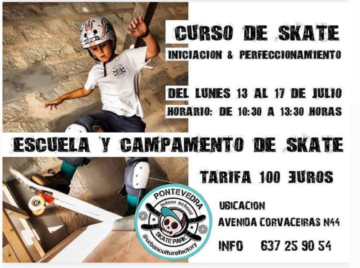 Curso de skate en Pontevedra
