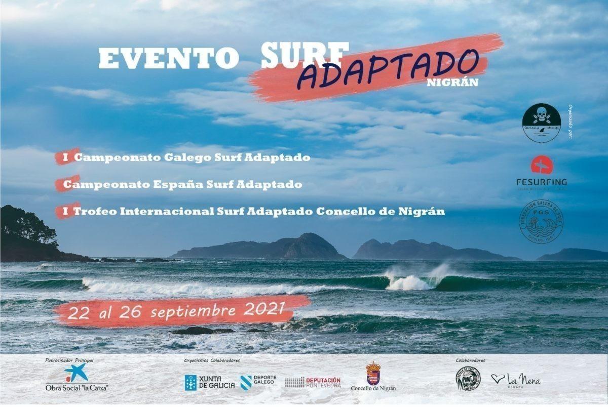 Del 22 al 26 de septiembre el surf adaptado vuelve