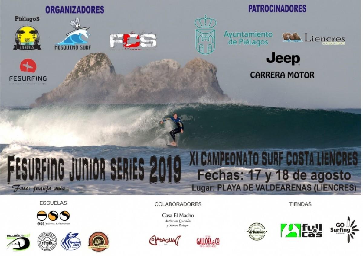 El campeonato de surf Costa de Liencres del Fesurfing Junior Series