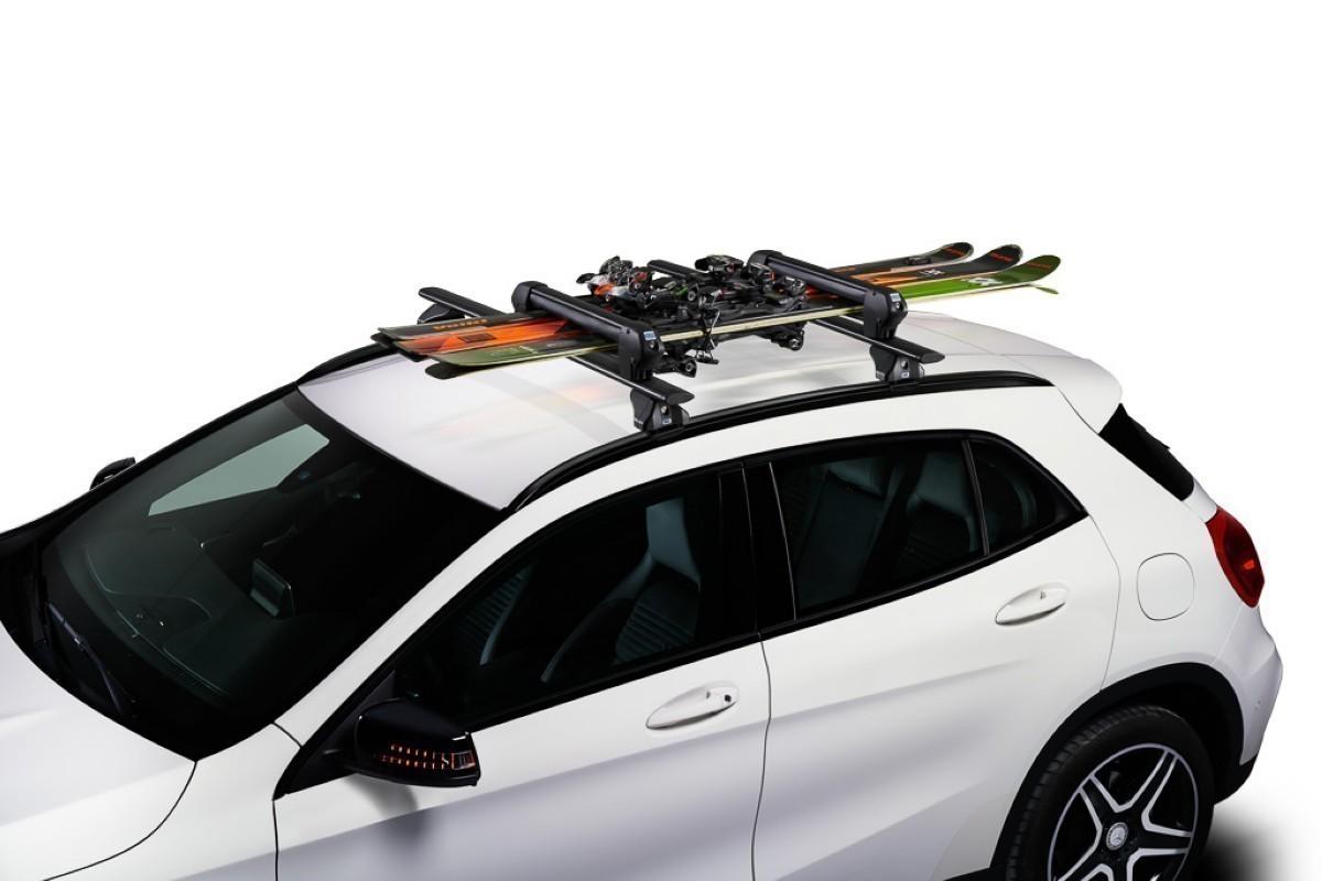 El Portaesquis-snowboards Cruz ski Rack Dark de techo