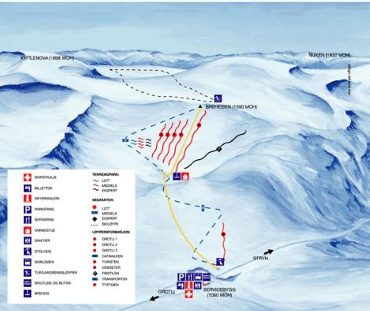 Esquiar en verano en Noruega en gran altitud