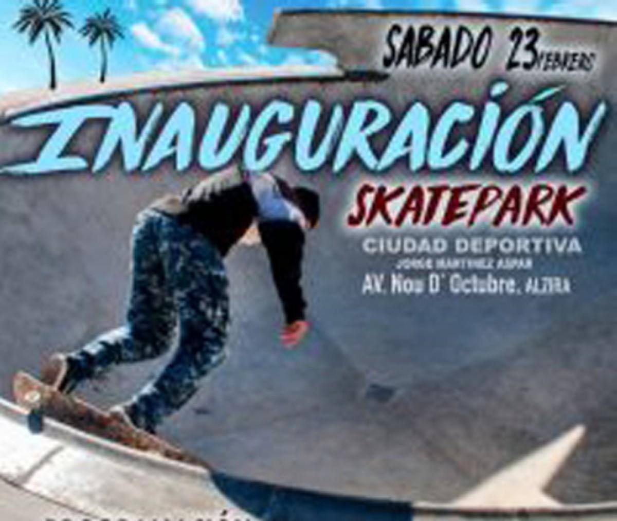 Inauguración del Skatepark de Alzira