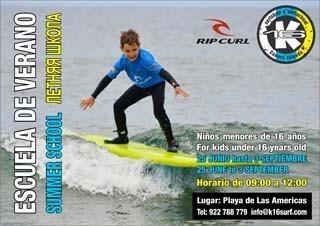 La escuela de surf K16 Rip Curl las Américas abre inscripciones