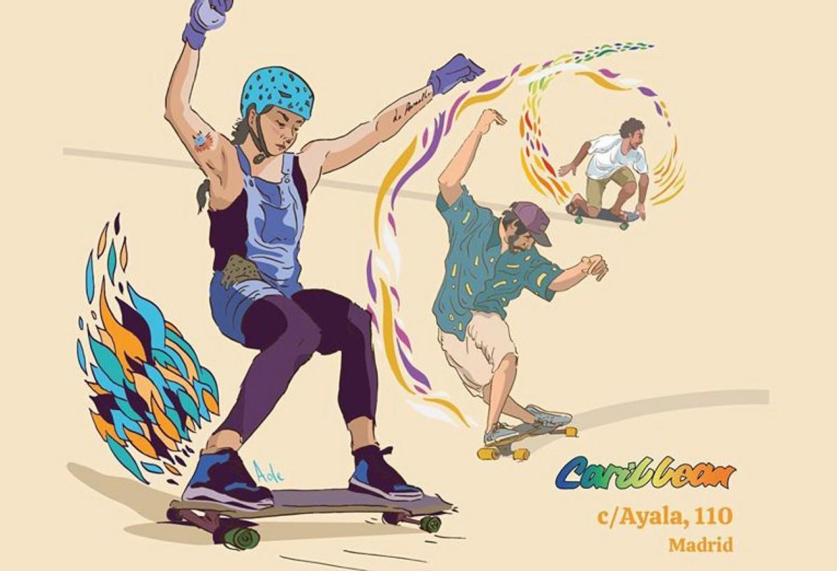 La exposición Freedom, longboard y skate