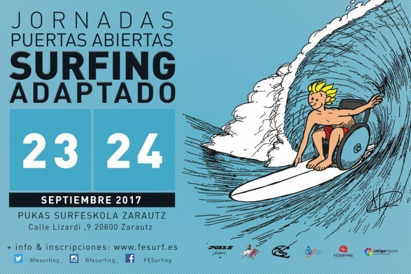 Primeras jornadas de Surfing Adaptado en Zarautz