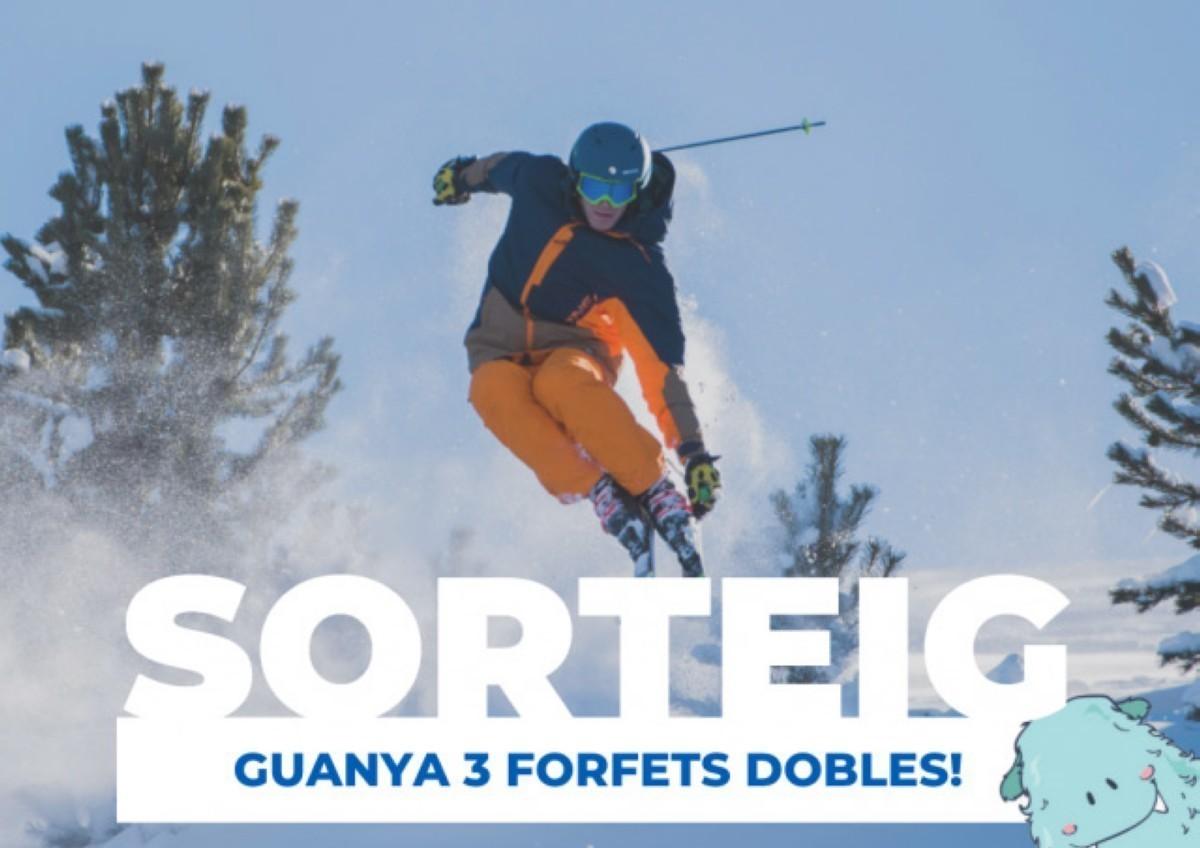 Puedes ganar 3 forfaits de día doble en La Molina