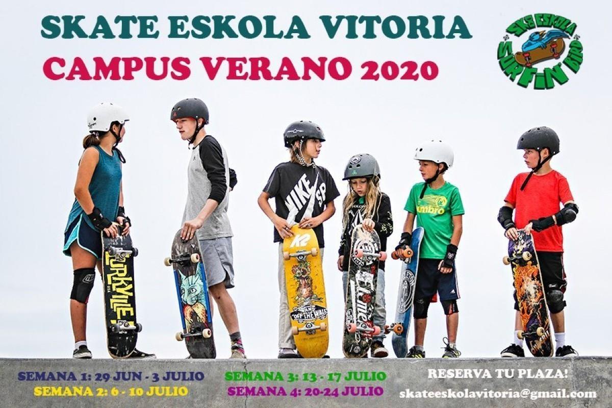 Skate eskola Vitoria, campus de verano