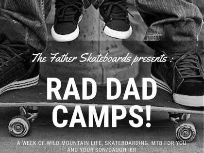 Campamento de verano de skate de padres e hijos