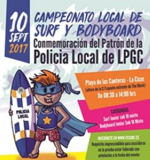 Campeonato local de Surf y Bodyboard Policia