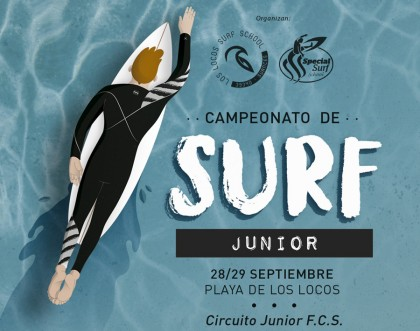Campeonato de surf junior en Suances