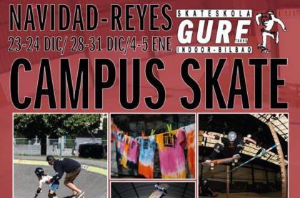 Campus de skate para Navidad en Guretxoko