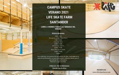 Campus skate verano en Santander