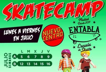 Campus de verano de Entabla, escuela de skate