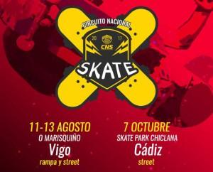 Circuito Nacional CNS de Skate en Chiclana