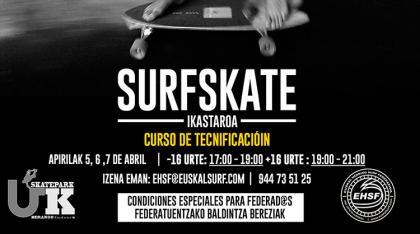 Curso de tecnificación SurfSkate UK Skatepark