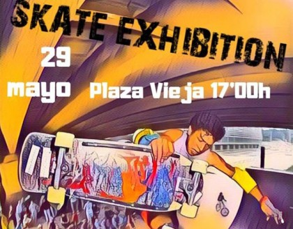 Exhibición de skate en Vallecas