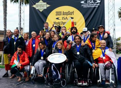 Histórico oro para España en los AmpSurf ISA World Para Surfing