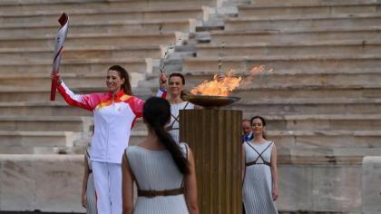 La Llama olímpica en camino a Beijing