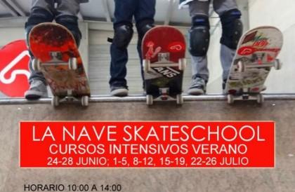 La nave skatepark cursos de skate de verano