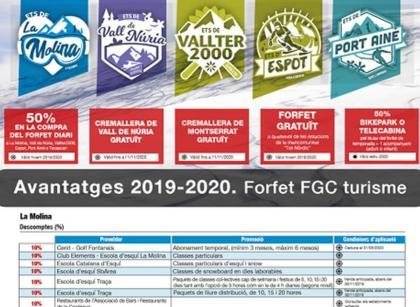 Las ventajas de los Forfaits FGC Turisme también en verano