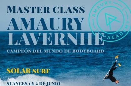Masterclass de bodyboard con Amaury Lavernhe en Suances