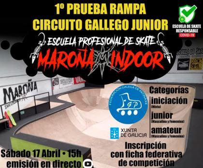 Primera prueba rampa del circuito Gallego de Skateboard