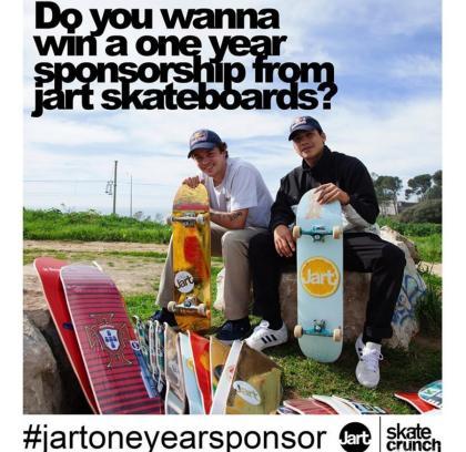 Sponsor durante un año con Jart Skateboards