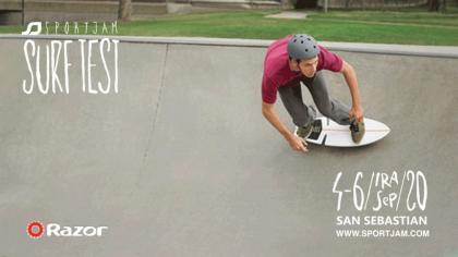 SportJam Surftest Donostia también con el skate