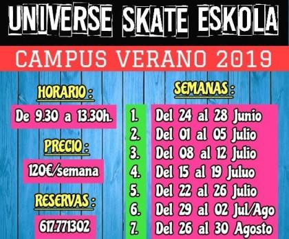 Universe Indoor Skatepark campus de verano