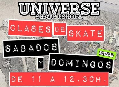 Universe Indoor Skatepark, clases de skate