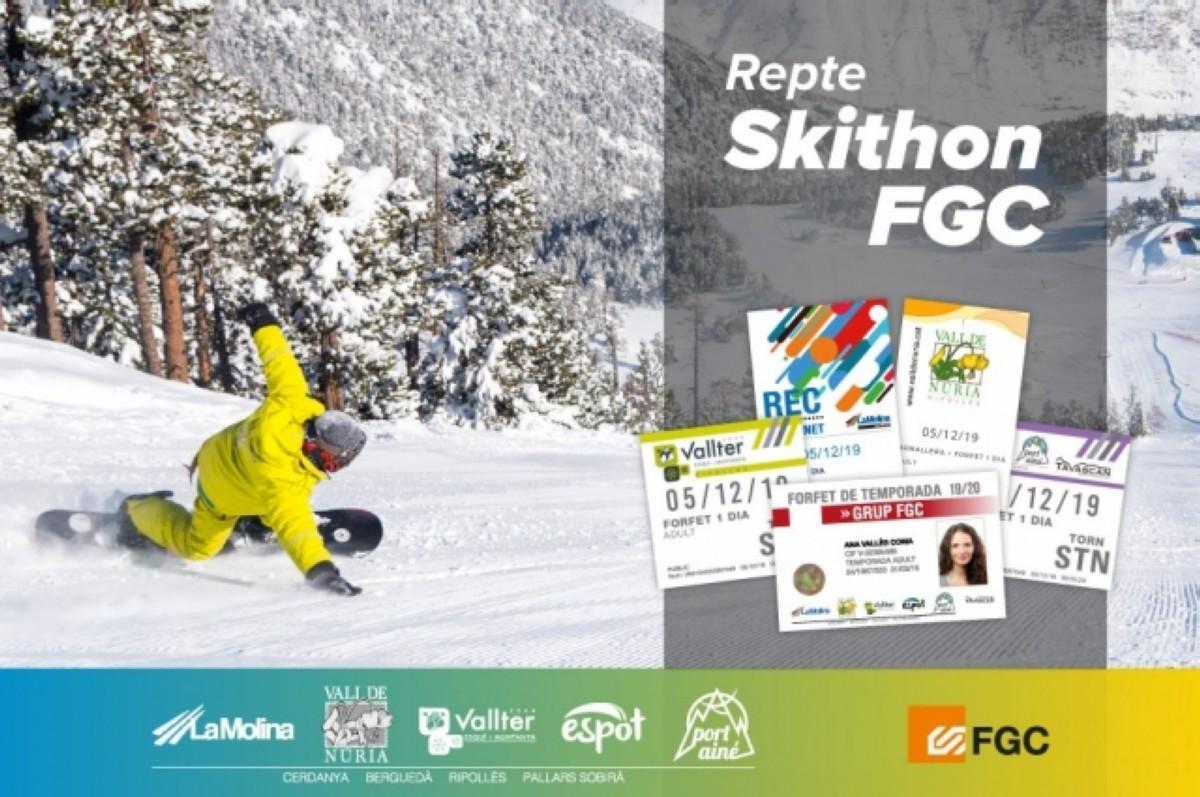 Vuelve el reto Skithon a les estaciones FGC