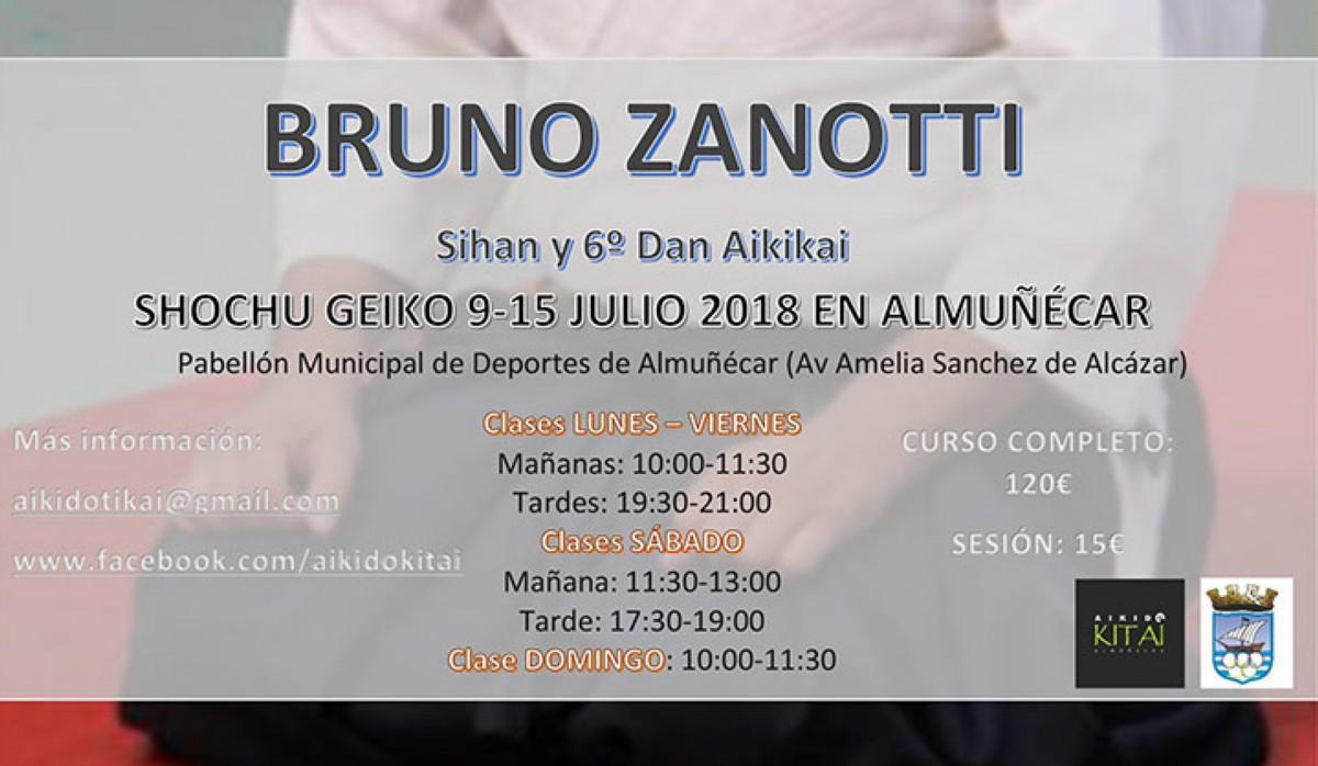 Aikido: Bruno Zanotti en Almuñécar