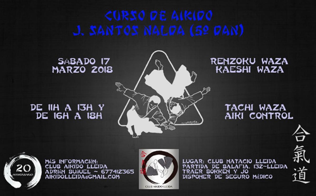 Aikido con el maestro J. Santos Nalda en Lleida