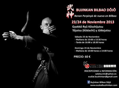 Curso de Bujinkan budo taijutsu en Bilbao