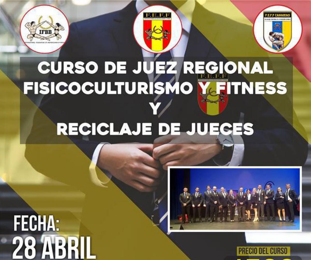 Curso de Juez Regional de Fisicoculturismo y Fitness FEFF Canarias