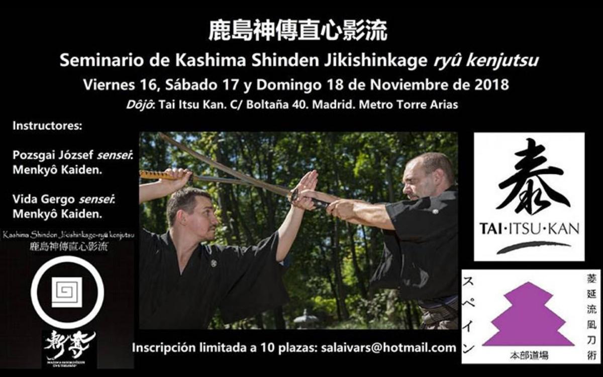 I Seminario en España de Kashima Shinden Jikishikage ryu ken
