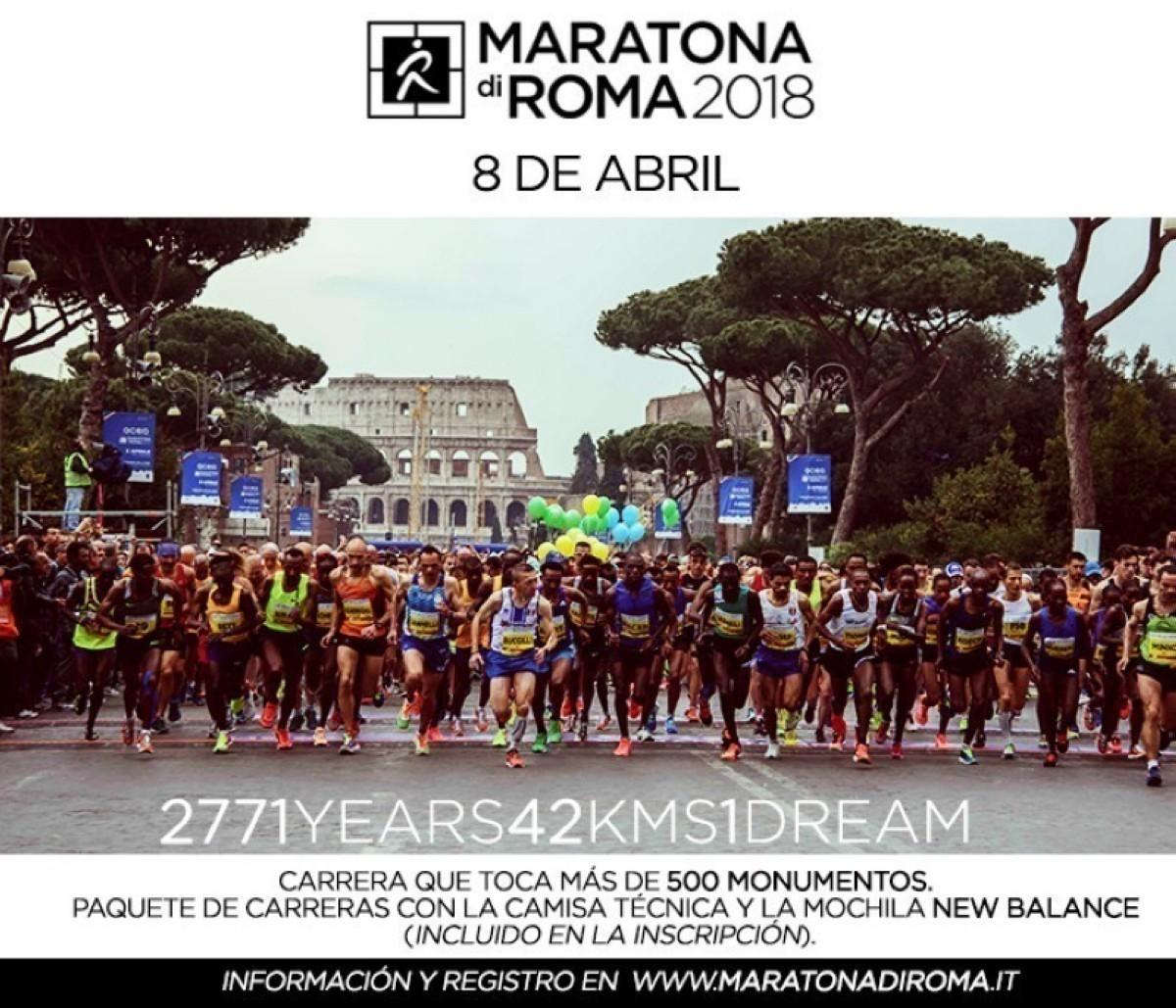 Inscríbete en la Maratona di Roma 2018