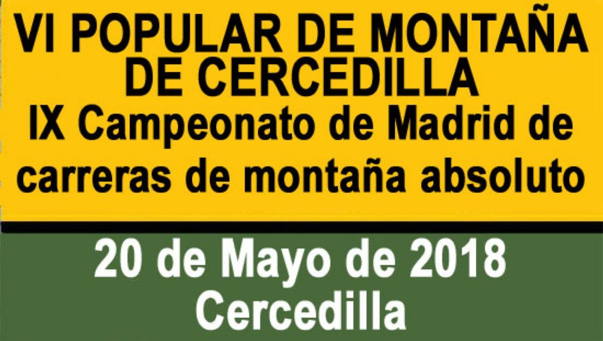 La VI Popular de Montaña de Cercedilla.
