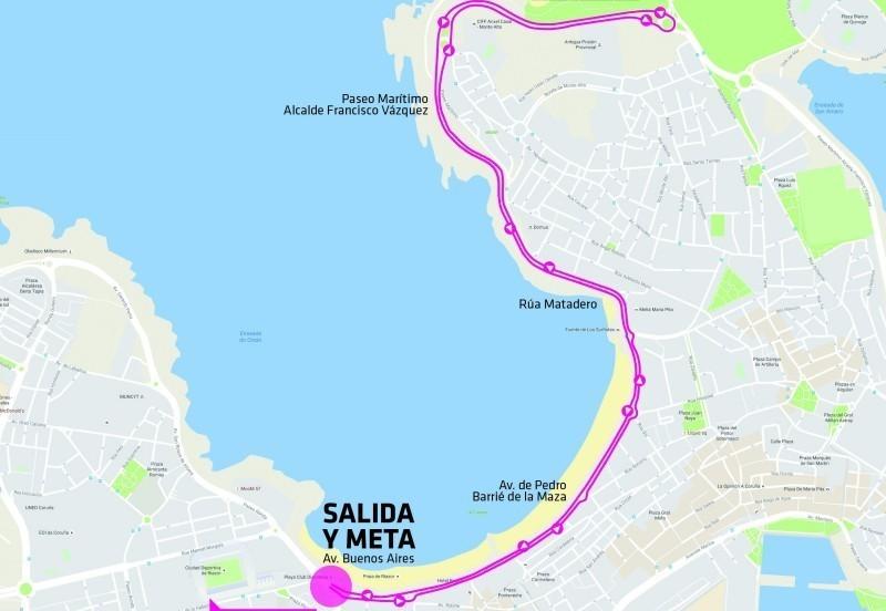 Recorrido de la Carrera de la Mujer de A Coruña 2017