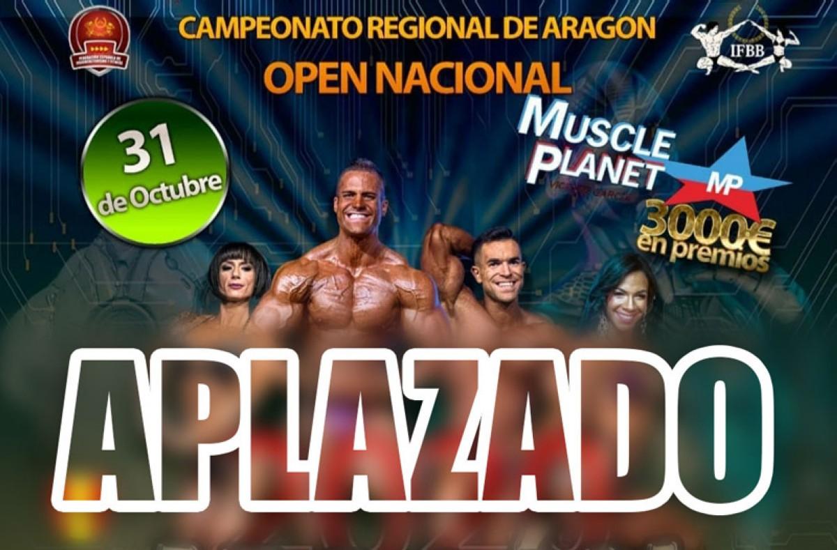 Se aplaza el open Muscle Planet y el regional aragonés