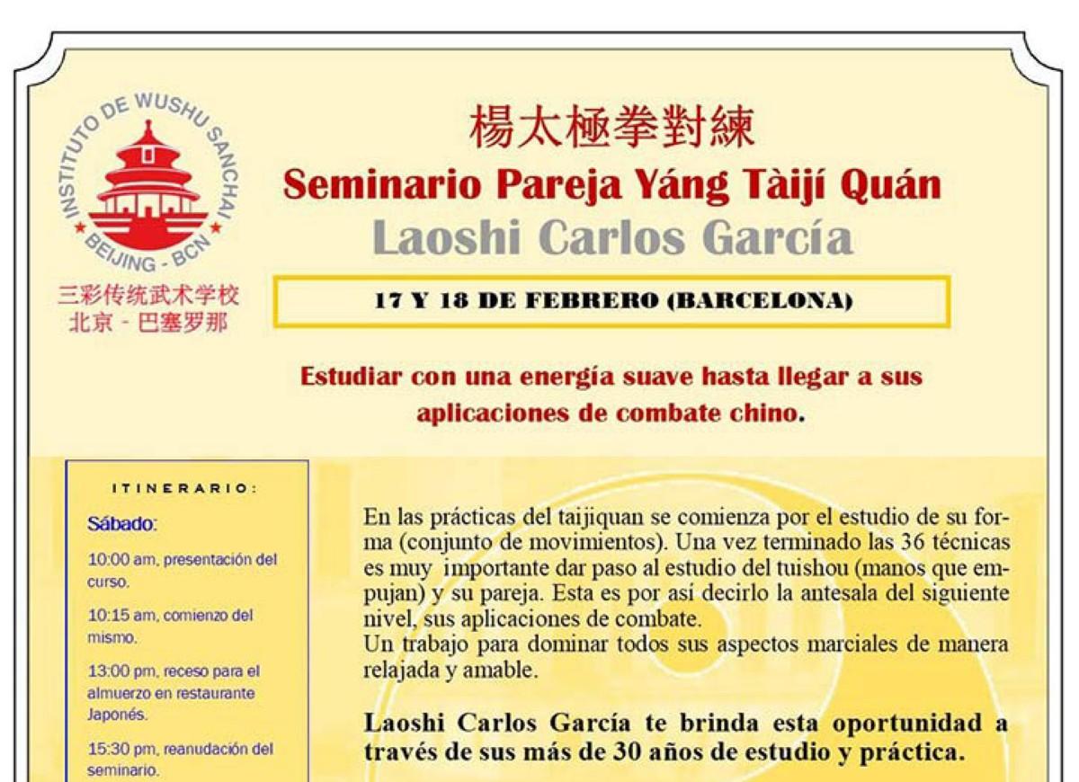 Seminario Pareja Yáng Tàiji Quán